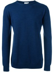 ribbed round neck jumper Sunspel