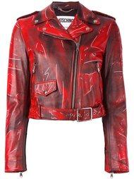 байкерская куртка с рисунком-обманкой Moschino