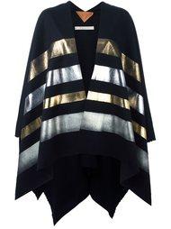 striped cape Ermanno Gallamini