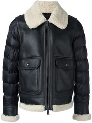 padded sleeve shearling jacket Moncler