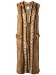 пальто без рукавов с узором  Agnona