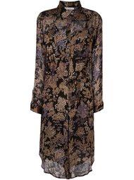 платье-рубашка с цветочным принтом Mes Demoiselles