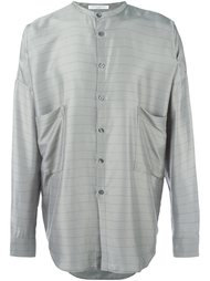 полосатая рубашка с воротником-стойкой Lucio Vanotti