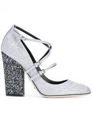 туфли с ремешками и блестящей отделкой Sergio Rossi