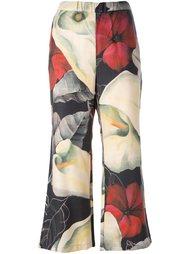укороченные брюки с цветочным принтом Ermanno Gallamini