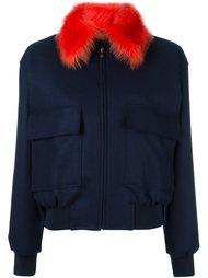 куртка с контрастным воротником   Paul Smith