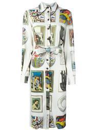 платье шифт с принтом Olympia Le-Tan