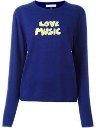 джемпер с принтом-интарсией 'Love Music' Bella Freud