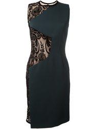 платье шифт с кружевными вставками Emanuel Ungaro