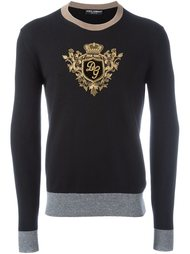 кашемировый джемпер с вышивкой 'Crown & Bee' Dolce & Gabbana