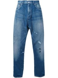зауженные джинсы с пятнами краски Bedwin & The Heartbreakers