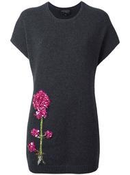 вязаная блузка с блестящей вышивкой Giambattista Valli