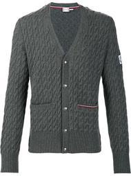 cable knit v-neck cardigan Moncler Gamme Bleu