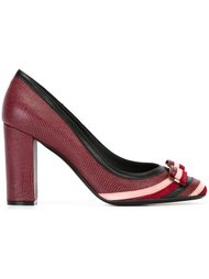 stripe detail pumps  Salvatore Ferragamo