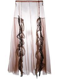 длинная юбка из тюля с высокой талией Toga
