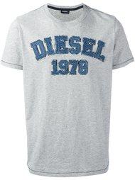 футболка с заплаткой с логотипом Diesel
