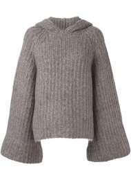 ribbed hooded jumper See By Chloé