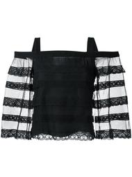 cold shoulder lace panel top Vilshenko