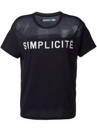 'simplicité' print T-shirt Zoe Karssen