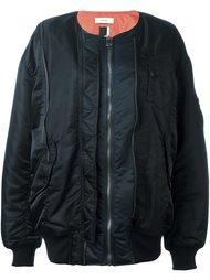 long length bomber jacket Facetasm