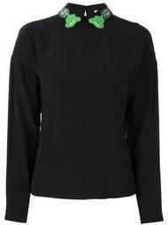 блузка с украшениями на воротнике Olympia Le-Tan