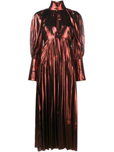 длинное платье с эффектом металлик Ellery