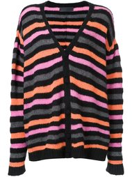 striped loose fit cardigan The Elder Statesman