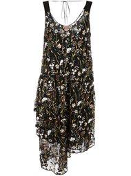 платье с цветочной вышивкой  Nº21