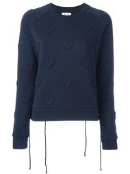 'hearts' embossed sweatshirt Zoe Karssen