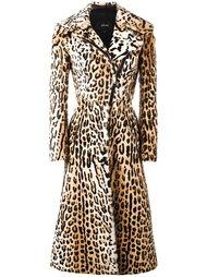 leopard print long coat Jitrois