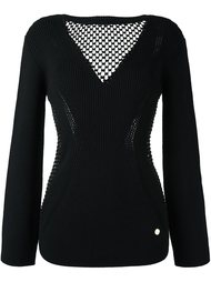 джемпер с прозрачной панелью Versace Collection