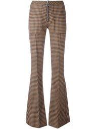 брюки с клешем ниже колена в клетку Marques'almeida