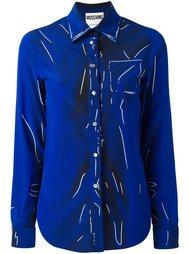 рубашка с рисунком-обманкой Moschino