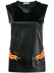 топ с вышивкой пламени Paco Rabanne