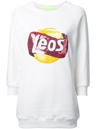 толстовка с аппликацией  логотипа   Leo