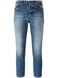 декорированные укороченные джинсы скинни Nº21