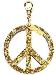 брелок 'Peace' с мелкими блестками Edie Parker
