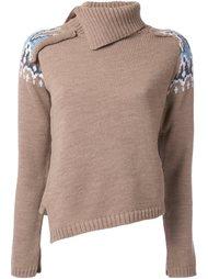 свитер с узором  Maison Mihara Yasuhiro