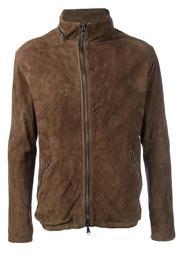 zipped leather jacket Giorgio Brato