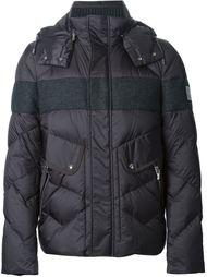 дутая куртка с шерстяной вставкой  Moncler Gamme Bleu