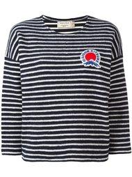 свитер в полоску  Maison Kitsuné