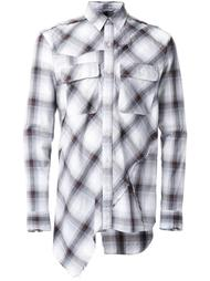 клетчатая рубашка в стиле пэчворк Miharayasuhiro