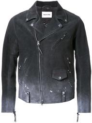 dégradé splatter detailing jacket monkey time