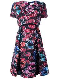 расклешенное жаккардовое платье Si Jay