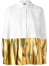 рубашка с эффектом металлик на плиссированном подоле Arthur Arbesser
