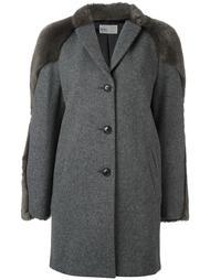 пальто с отделкой из искусственного меха Kolor
