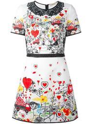 приталенное платье с принтом Piccione.Piccione