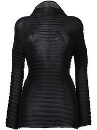 turtleneck sheer blouse Issey Miyake
