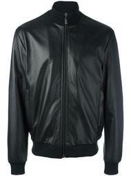 zipped leather jacket  Dirk Bikkembergs