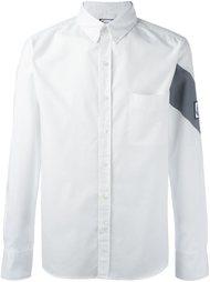 рубашка с контрастной полоской Moncler Gamme Bleu